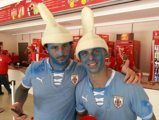 torcedores uruguai x taiti (Foto: Edgard Maciel de Sá)