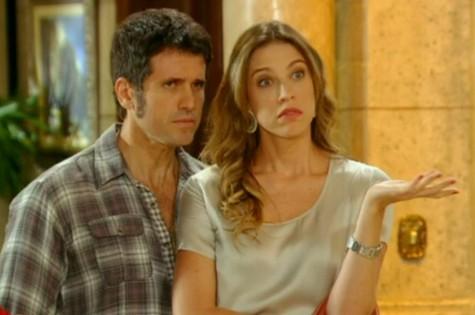 Eriberto Leão e Luana Piovani em cena de 'Guerra dos sexos' (Foto: Reprodução)