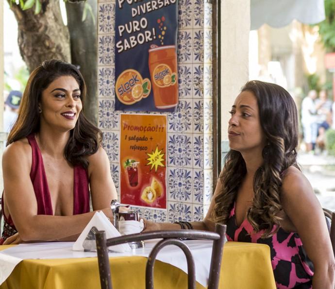 """Juliana Paes grava cenas do spin-off """"Totalmente Sem Noção Demais"""" ao lado de Samantha Schmütz (Foto: Ellen Soares/Gshow)"""