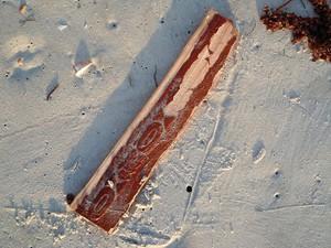 Pescadores acham destroços que podem ser de bimotor que sumiu na BA (Foto: Abel Dias/ TV Santa Cruz)
