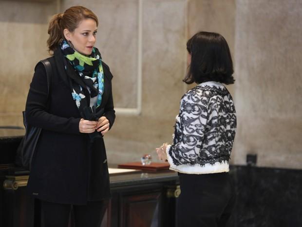 Cristina descobre que quem tirou o dinheiro foi Fabrício Melgaço (Foto: Pedro Curi/ Gshow)