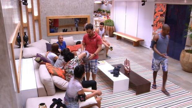 BBB às 11h06m do dia 28/02. (Foto: Big Brother Brasil)