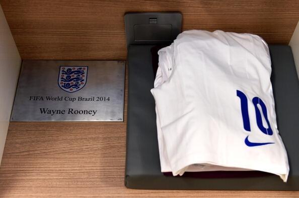 Uniforme de Wayne Rooney para o jogo da Inglaterra