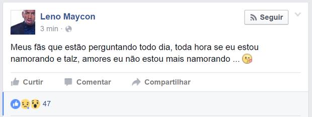 Nego Borel anuncia fim do namoro em rede social (Foto: Reprodução)