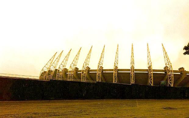 estádio Castelão obras Copa do Mundo (Foto: Roberto Leite / Globoesporte.com)
