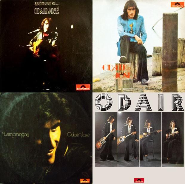 O box lança em CD os quatro discos mais famosos de Odair José (esq. para dir.): Assim Sou Eu...(1972), Odair José (1973), Lembranças (1974) e Odair (1975) (Foto: Divulgação)
