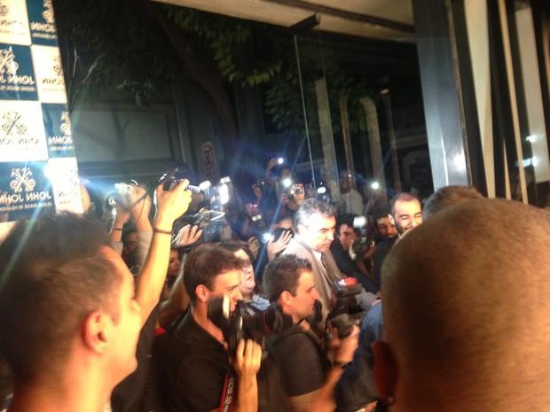 Lindsay Lohan chega em loja em São Paulo (Foto: EGO)