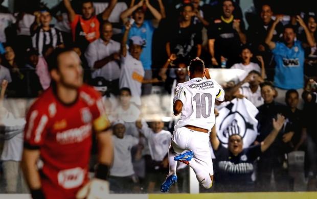 Geuvânio Santos gol Ponte Preta (Foto: Thiago Bernardes / Agência Estado)