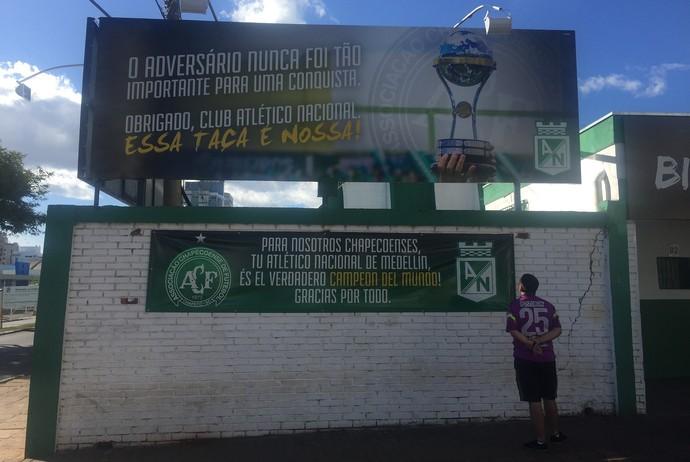 Chapecó prepara homenagem para Atlético Nacional (Foto: Janir Jr)