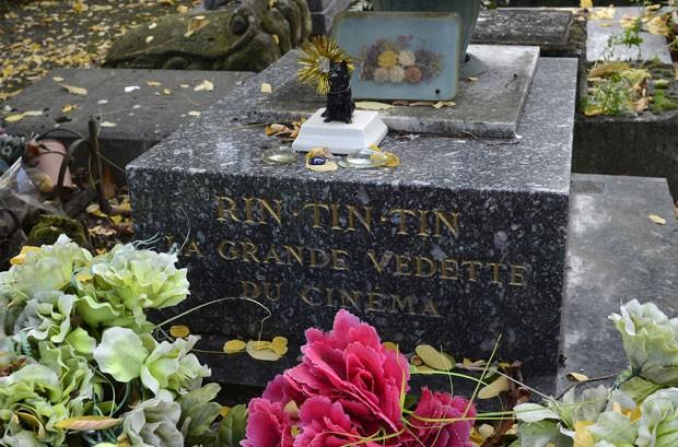 Cão 'Rin Tin Tin' é o animal mais famoso sepultado no local (Foto: Bertrand Guay/AFP)