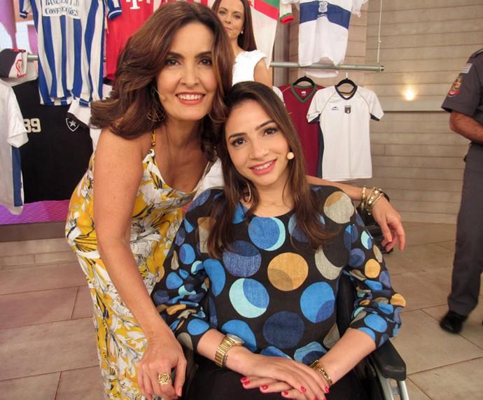 Lais Souza também foi convidada de Fátima Bernardes (Foto: Priscilla Massena/Gshow)