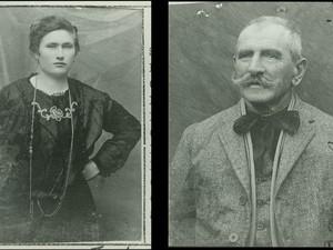 Imigrantes italianos em fotos de passaporte da década de 1920.  (Foto: Museu de Imigração/ AE)