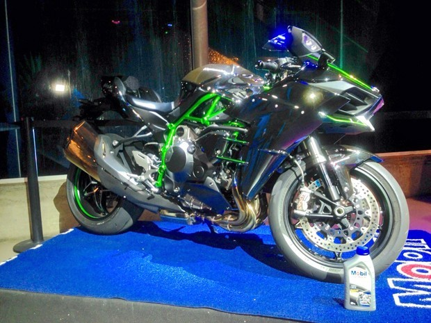 Kawasaki Ninja H2 é apresentada no Brasil (Foto: Rafael Miotto/G1)