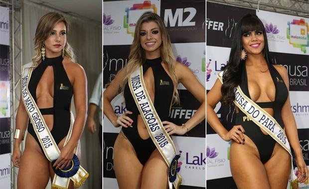 Candidatas Musa do Brasil: Raquel Santos, Mato Grosso | Thais Pazeto, Alagoas | Theila Sabrina, Pará (Foto: Divulgação)