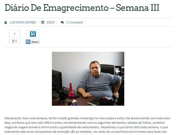 Publicitário relata processo de emagrecimento enquanto ajuda outras pessoas (Foto: Luciano Gomes / Arquivo pessoal)