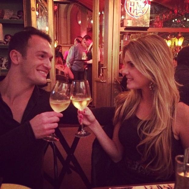 Bárbara Evans e Diego Hypólito (Foto: Instagram / Reprodução)