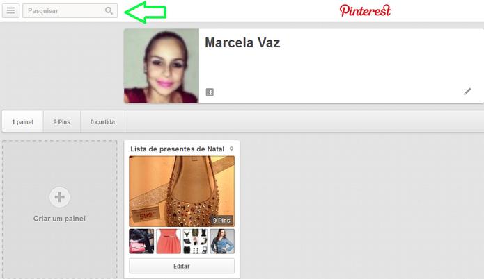 Pesquisa por pins no Pinteres (Reprodução/ Marcela Vaz) (Foto: Pinterest)