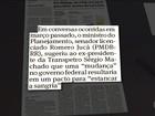Em gravação, Jucá sugere 'pacto' para barrar a Lava Jato, diz jornal