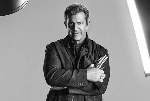 Mel Gibson em 'Os Mercenários 3' (2014) (Foto: Divulgação)