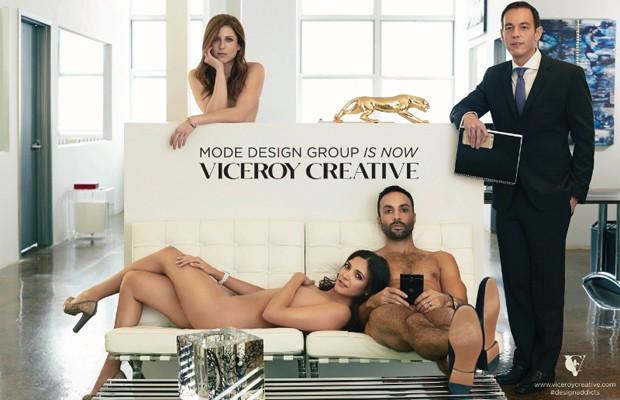 Executivos de agência de NY posam nus para anunciar mudança de marca (Foto: Divulgação)