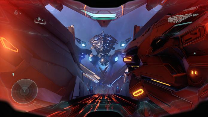 Halo 5 também tem cenas impressionantes (Foto: Reprodução/Victor Teixeira)