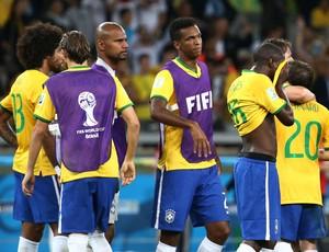 Jogadores do Brasil x Alemanha, Mineirão (Foto: André Durão / Globoesporte.com)