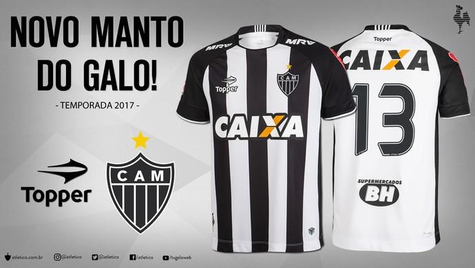 Atlético-MG e Topper apresentaram os novos uniformes do clube para o início da temporada (Foto: Divulgação)