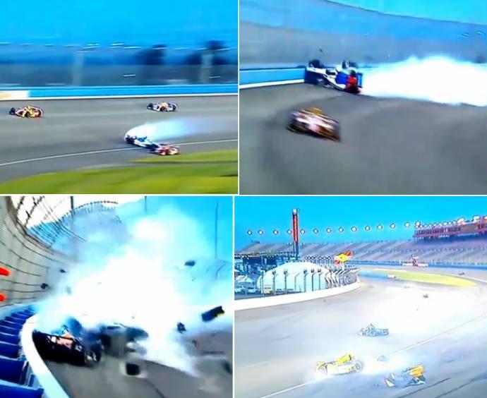 Batida feia deixa piloto em estado grave na Indy (Foto: Reprodução)