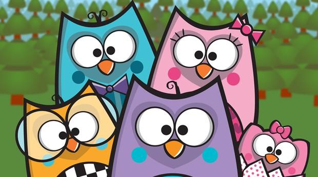 A coruja Bubu (roxa) e sua família: dos produtos da Uatt? a voos mais altos (Foto: Divulgação)