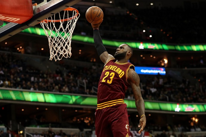 Cleveland Cavaliers x Washington Wizards - LeBron (Foto: Getty Images)