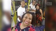 Família passa réveillon e ceia em ônibus com marido cobrador