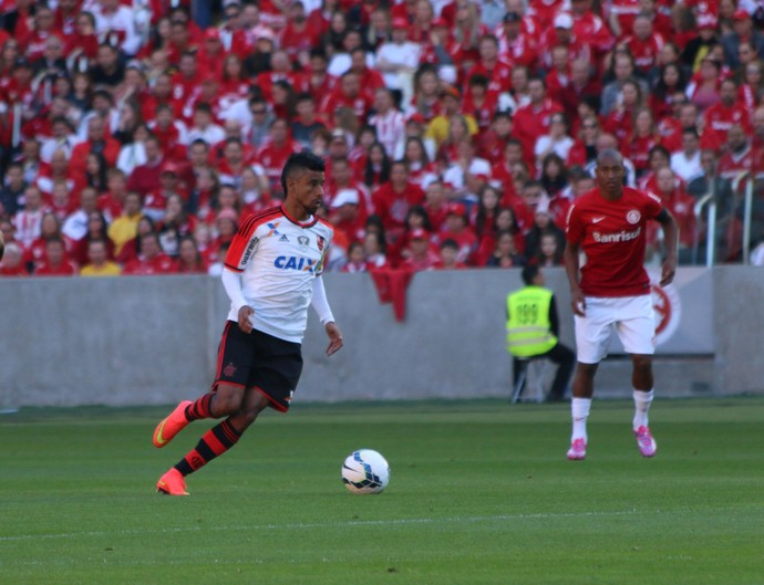 Lateral-direito Léo Moura do Flamengo  (Foto: Diego Guichard/GloboEsporte.com)