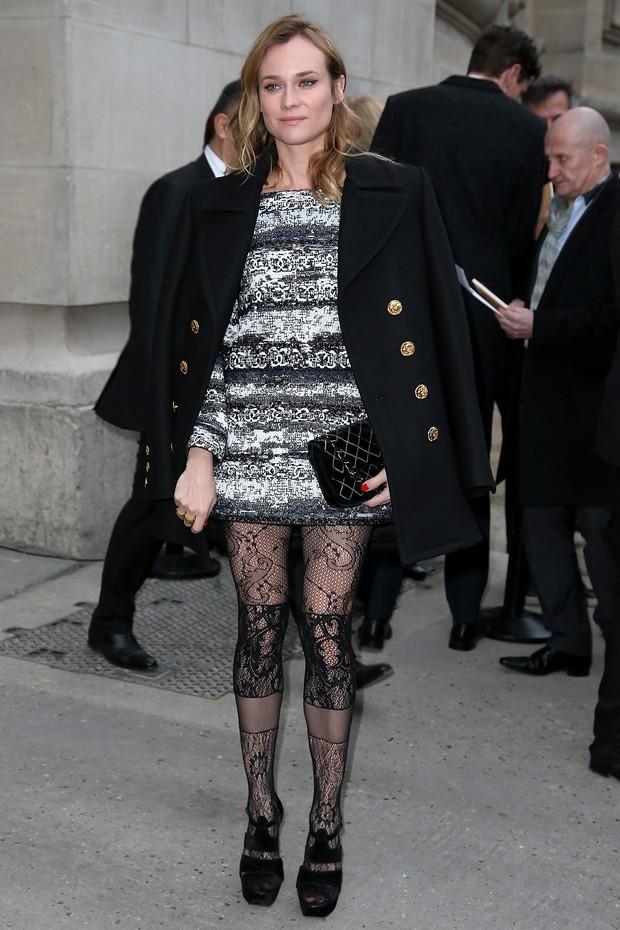Diane Kruger no desfile da Chanel em Paris (Foto: Getty Images)