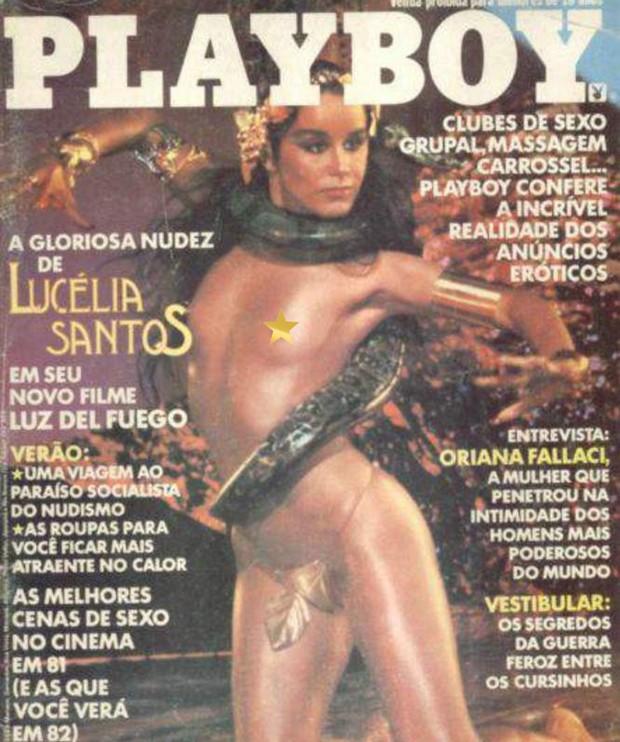 Lucélia Santos na capa da Playboy em novembro de 1981 (Foto: Reprodução)