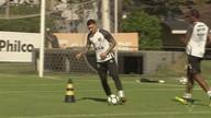 Santos treina para enfrentar o Palmeiras pelo Brasileirão