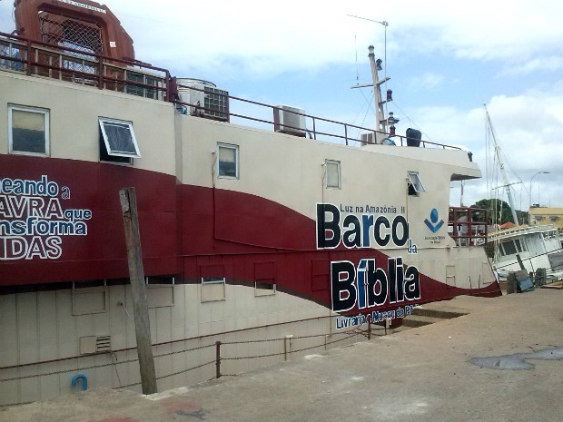 Amapá, Macapá, barco da bíblia, bíblia, (Foto: Fabiana Figueiredo/G1)