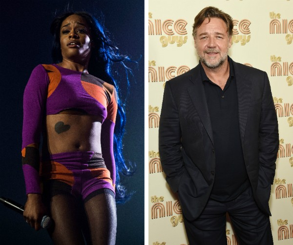 Azealia Banks e Russel Crowe (Foto: Getty Images)