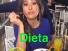 Sabrina Sato aparece comendo doces e salgados em vídeo: 'Dieta da solteira'