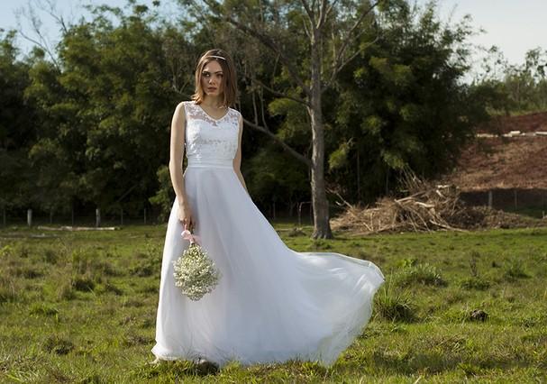 Vestido de noiva flower (Foto: Divulgação)