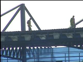 Reparos no Moacyrzão (Foto: Reprodução / Inter TV)