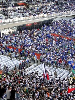 torcida Cruzeiro e Atlético-MG jogo Mineirão (Foto: Fernando Martins y Miguel)