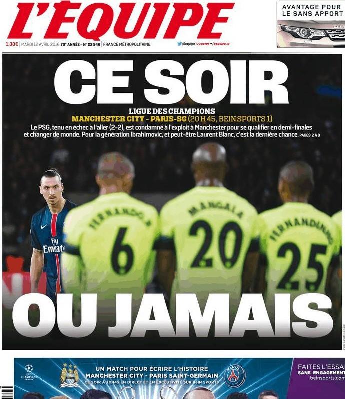 Capa L'Équipe PSG Champions (Foto: Reprodução)