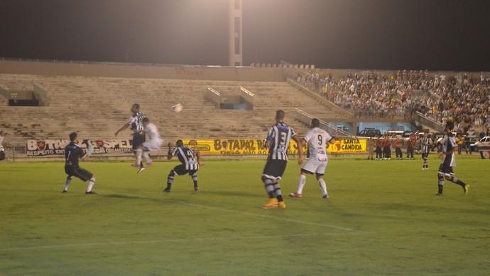Botafogo-PB x Treze, no Campeonato Paraibano (Foto: Cadu Vieira / GloboEsporte.com/pb)
