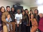Depois de internação, Gilberto Gil reúne a família no Rio para show