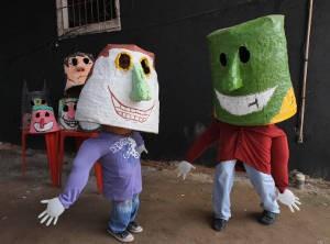 Bloco dos Cabeçudos, em 2012. (Foto: Rodolfo Oliveira/Agência Pará)