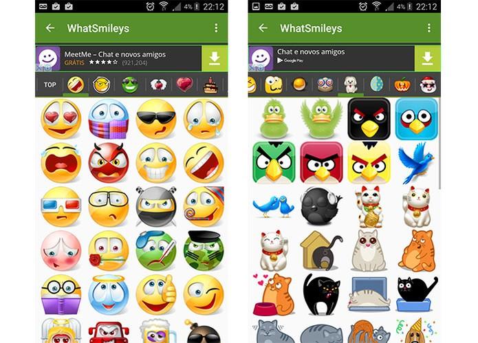 WhatSmileys tem emojis divertidos e com personagens para o Android (Foto: Reprodução/Barbara Mannara)