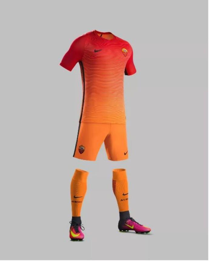 1d4f3f147f Inter e Roma apresentam terceiros uniformes com cores chamativas