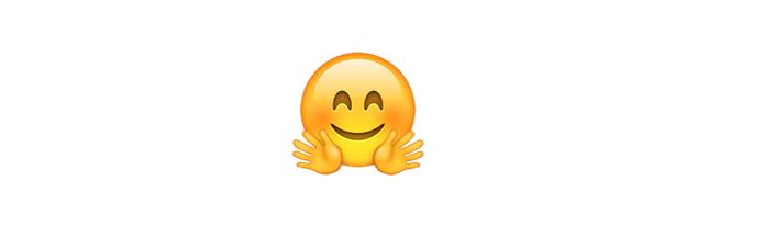 O emoji abraço representa dar um abraço em alguém (Foto: Reprodução/emojipedia)