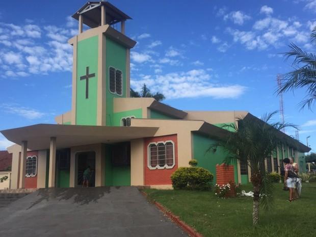 Paróquia São João Batista de Itajá, em Goiás (Foto: Dyego Queiroz/G1)