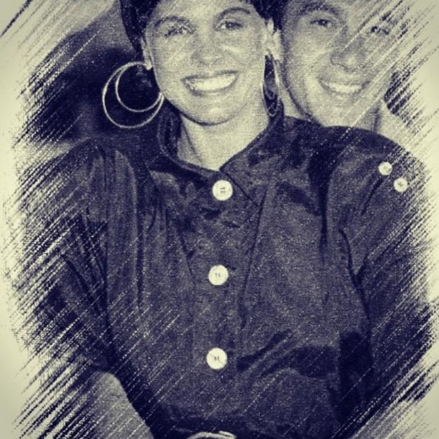 Monique Evans e Ayrton Senna (Foto: Reprodução/Instagram)